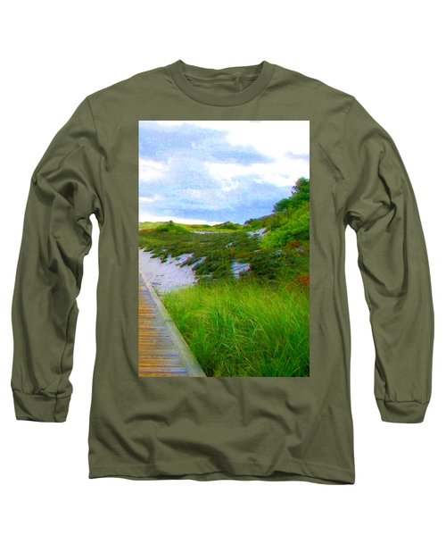 Island State Park Boardwalk Long Sleeve T-Shirt