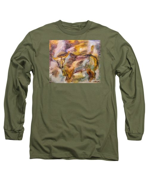 Long Sleeve T-Shirt featuring the painting Istrian Bull -  Boshkarin by Dragica  Micki Fortuna