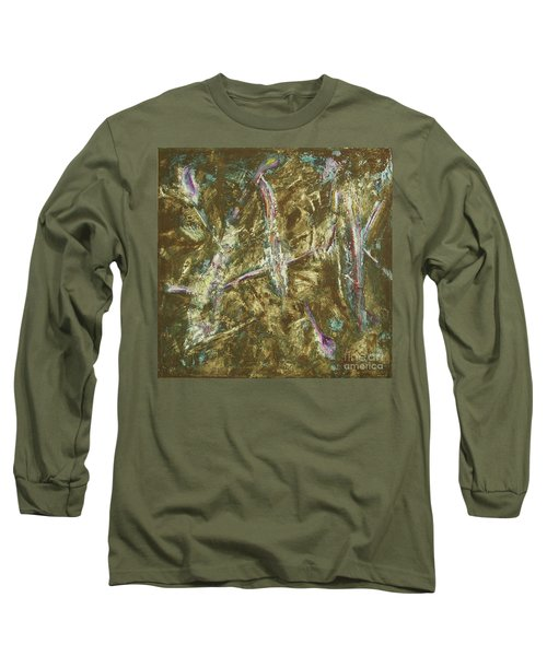 Long Sleeve T-Shirt featuring the painting It's Crazy Out There by Mini Arora