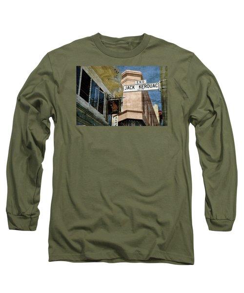 Jack Kerouac Alley And Vesuvio Pub Long Sleeve T-Shirt by RicardMN Photography