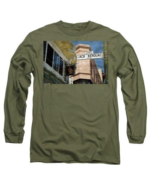 Jack Kerouac Alley And Vesuvio Pub Long Sleeve T-Shirt