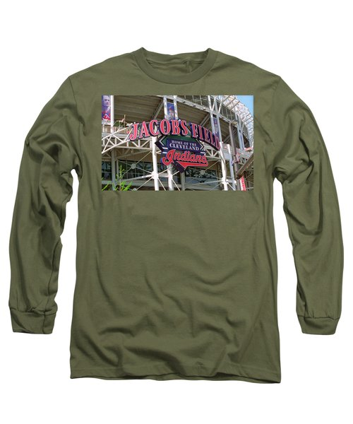 Jacobs Field - Cleveland Indians Long Sleeve T-Shirt by Frank Romeo