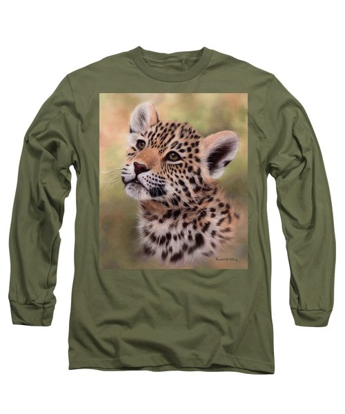 Jaguar Cub Painting Long Sleeve T-Shirt