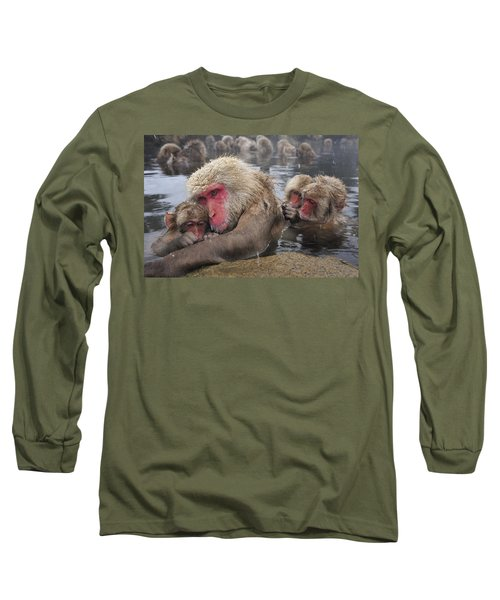 Japanese Macaque Grooming Mother Long Sleeve T-Shirt