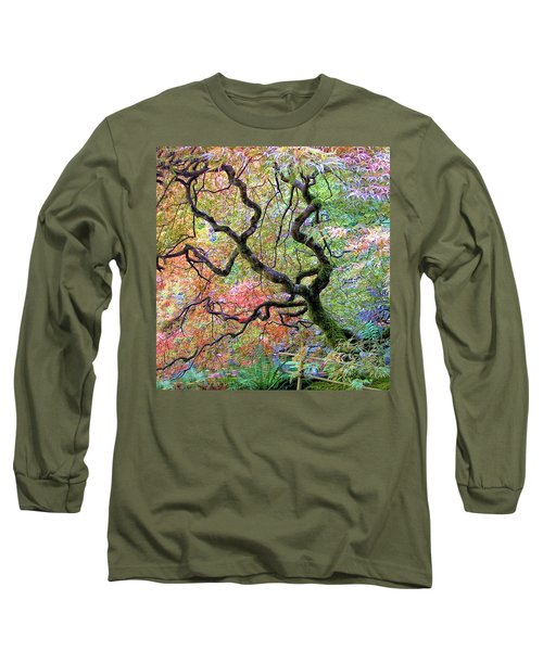 Japanese Maple Long Sleeve T-Shirt by Wendy McKennon