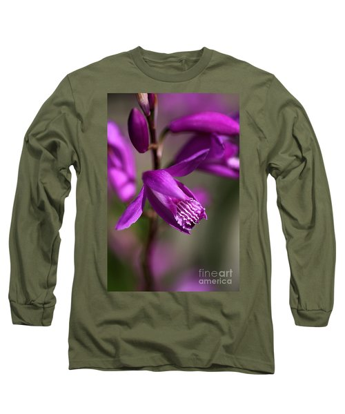 Long Sleeve T-Shirt featuring the photograph Japanese Orchid by Joy Watson
