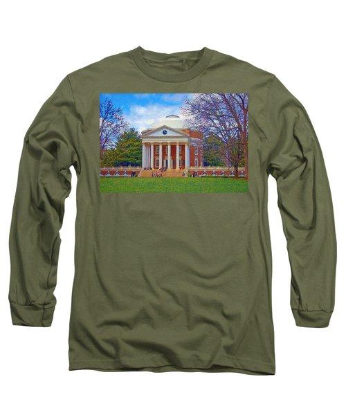 Jefferson's Rotunda At Uva Long Sleeve T-Shirt