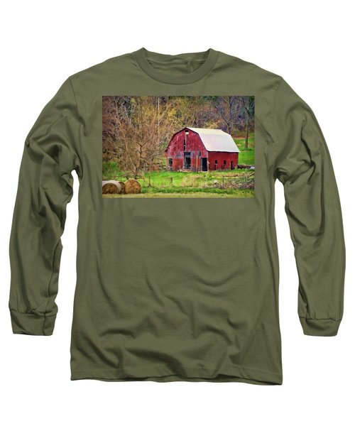 Jemerson Creek Barn Long Sleeve T-Shirt by Cricket Hackmann