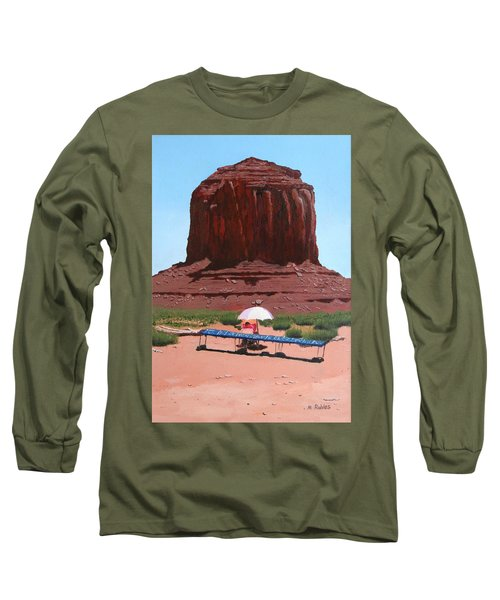 Jewelry Seller Long Sleeve T-Shirt by Mike Robles