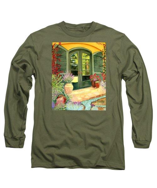 Jill's Patio Long Sleeve T-Shirt by Laurie Morgan