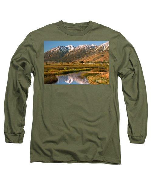 Job's Peak Reflections Long Sleeve T-Shirt by James Eddy