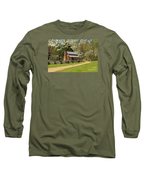 Long Sleeve T-Shirt featuring the photograph John Oliver's Cabin by Geraldine DeBoer