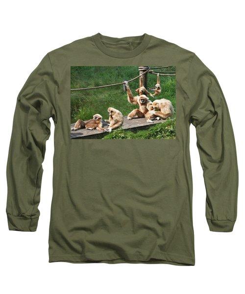 Joyful Monkey Family Long Sleeve T-Shirt