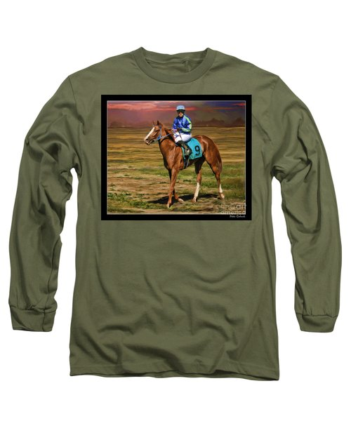 Juan Hermandez On Horse Atticus Ghost Long Sleeve T-Shirt