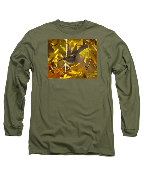 Junco In Morning Light Long Sleeve T-Shirt by Nava Thompson