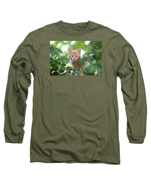 Jungle Kitty Long Sleeve T-Shirt by Debbie Green
