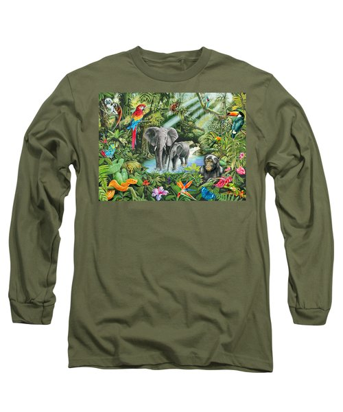 Jungle Long Sleeve T-Shirt by Mark Gregory