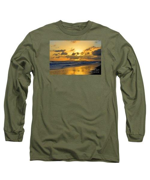 Kauai Sunset With Niihau On The Horizon Long Sleeve T-Shirt by Catherine Sherman