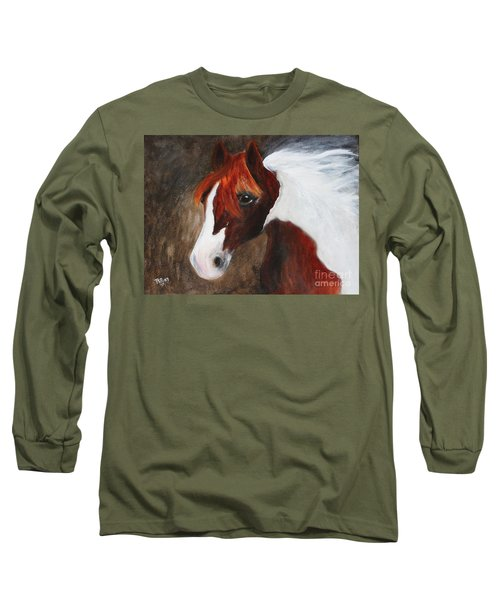 Long Sleeve T-Shirt featuring the painting Kidden by Barbie Batson