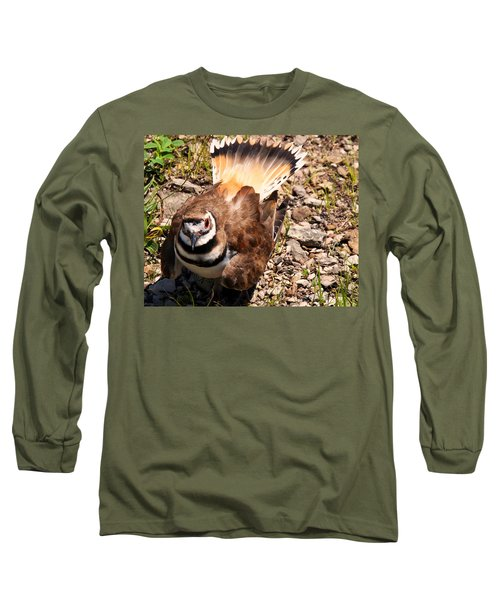 Killdeer On Its Nest Long Sleeve T-Shirt by Chris Flees
