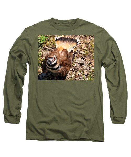 Killdeer On Its Nest Long Sleeve T-Shirt