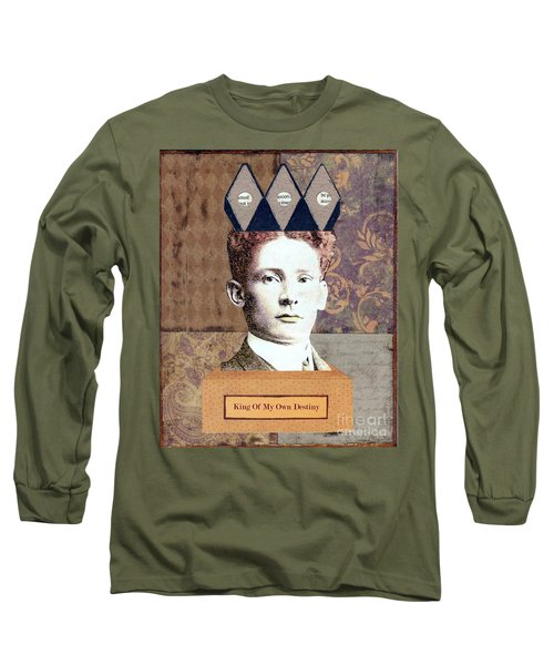 Long Sleeve T-Shirt featuring the mixed media King Of My Own Destiny by Desiree Paquette