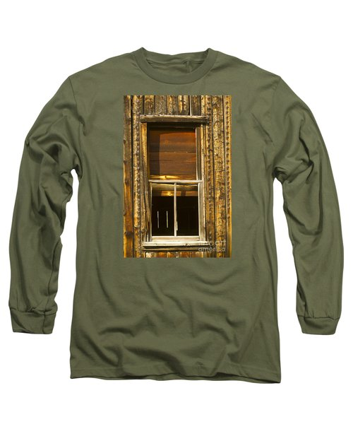 Kirwin Window-signed-#0223 Long Sleeve T-Shirt by J L Woody Wooden