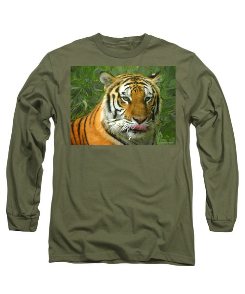 Long Sleeve T-Shirt featuring the photograph Kisa Painted by Sandi OReilly