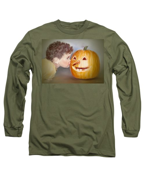 Kissy Face2 Long Sleeve T-Shirt by Bonnie Willis