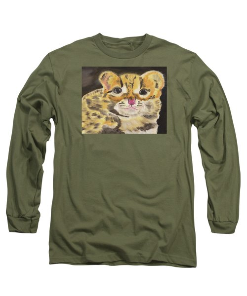 Peek A Boo Kitty Long Sleeve T-Shirt