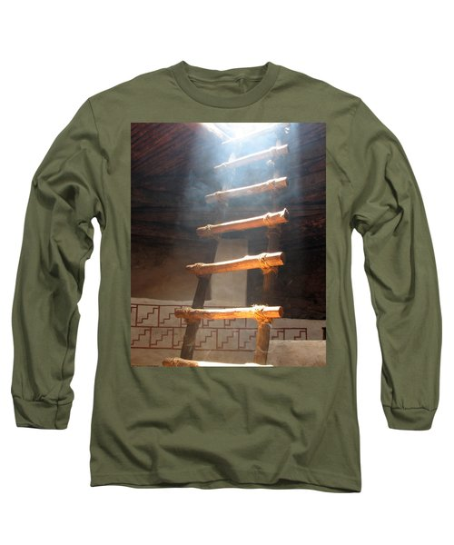 Long Sleeve T-Shirt featuring the photograph Kiva Ladder by Marcia Socolik