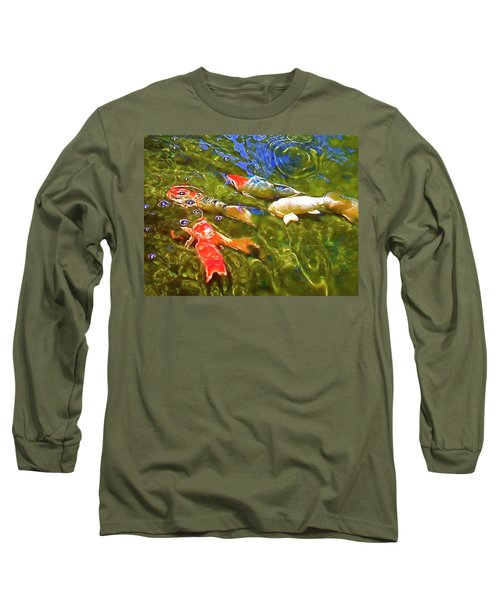 Long Sleeve T-Shirt featuring the photograph Koi 1 by Pamela Cooper