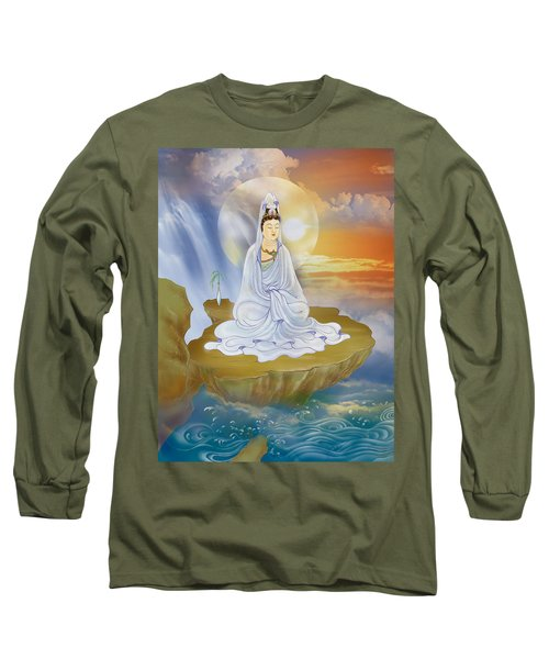 Kwan Yin - Goddess Of Compassion Long Sleeve T-Shirt by Lanjee Chee