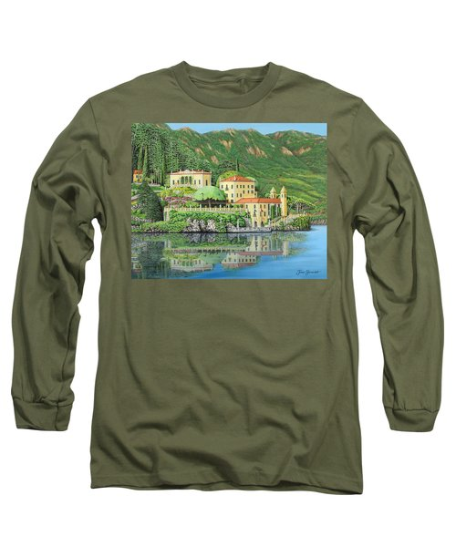 Lake Como Morning Long Sleeve T-Shirt by Jane Girardot