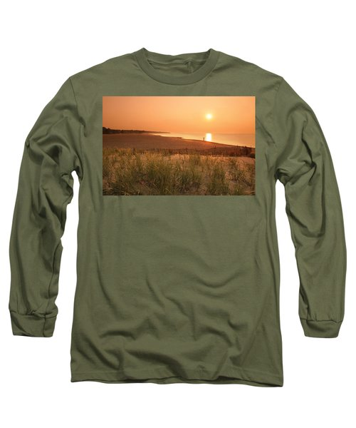 Lake Erie Sunset Long Sleeve T-Shirt by Garry McMichael