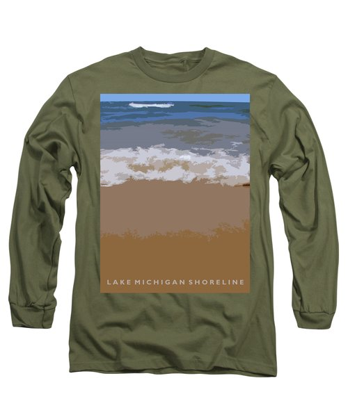 Lake Michigan Shoreline Long Sleeve T-Shirt
