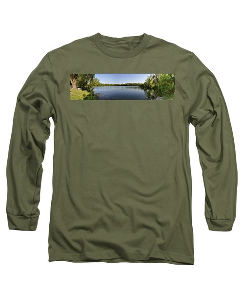 Long Sleeve T-Shirt featuring the photograph Lake Victory by Verana Stark