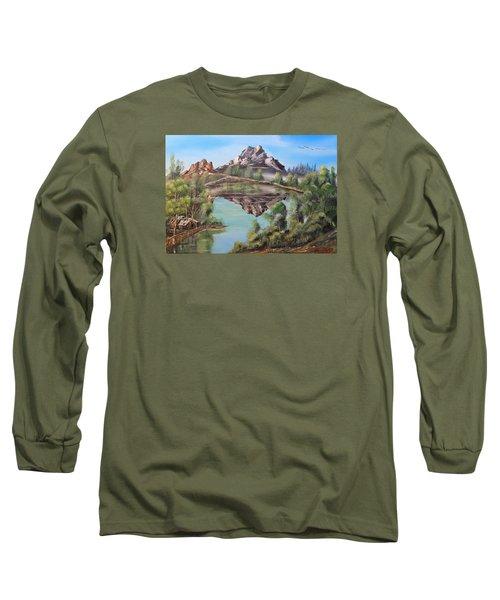 Lakehouse Long Sleeve T-Shirt by Remegio Onia