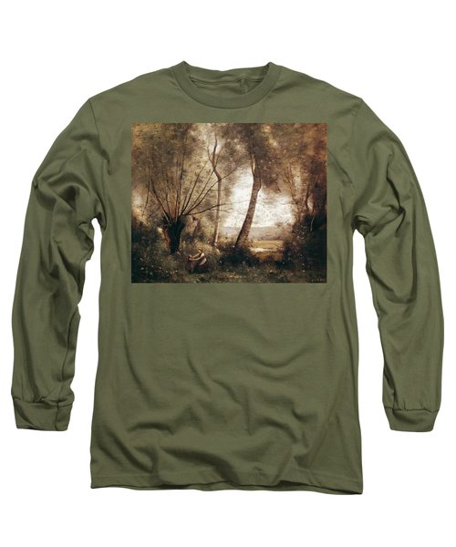 Landscape Oil On Canvas Long Sleeve T-Shirt