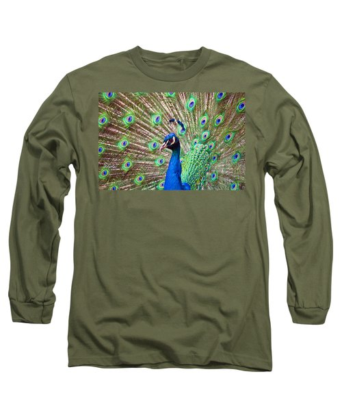 Landscape Peacock Long Sleeve T-Shirt