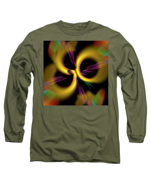 Laser Lights Abstract Long Sleeve T-Shirt