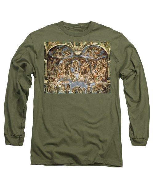 Last Judgement, From The Sistine Chapel, 1538-41 Fresco Long Sleeve T-Shirt
