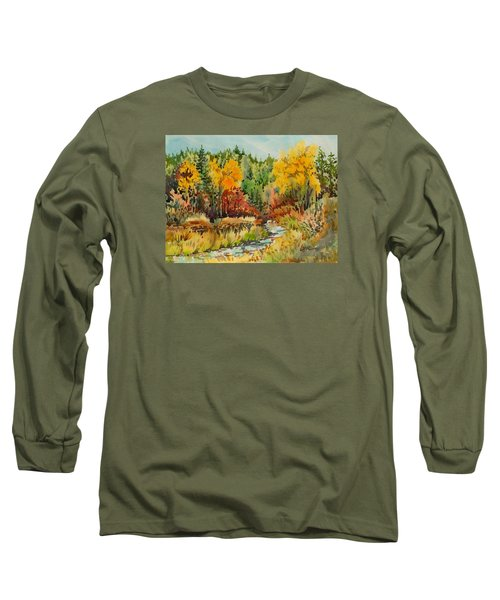 Latah Creek Fall Colors Long Sleeve T-Shirt