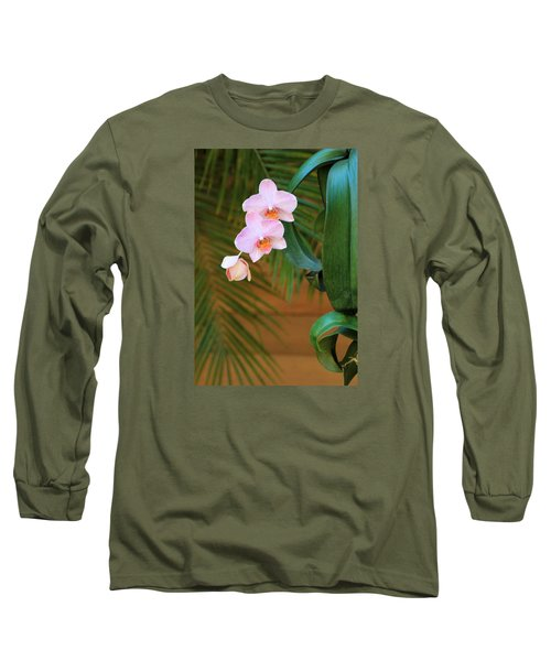 Long Sleeve T-Shirt featuring the photograph Lavender Dendrobium Orchids by Rosalie Scanlon