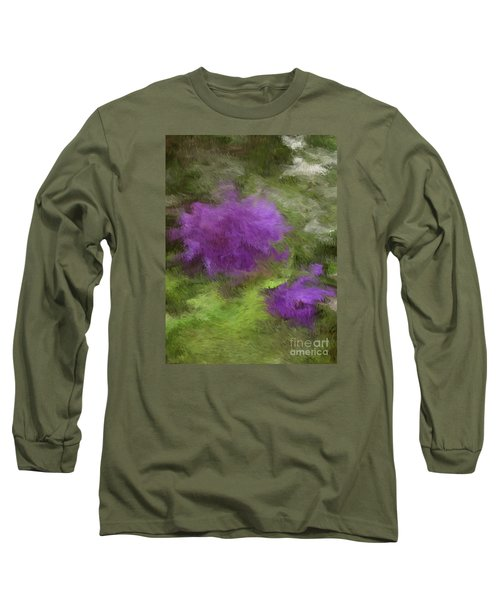 Long Sleeve T-Shirt featuring the digital art Monet Meadow by The Art of Alice Terrill