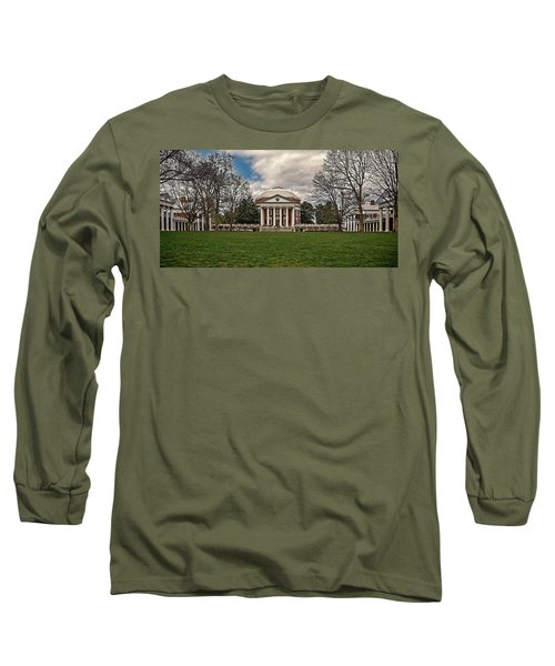 Lawn And Rotunda At University Of Virginia Long Sleeve T-Shirt