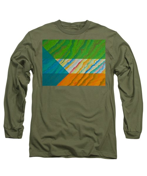Long Sleeve T-Shirt featuring the mixed media Layover by Michele Myers