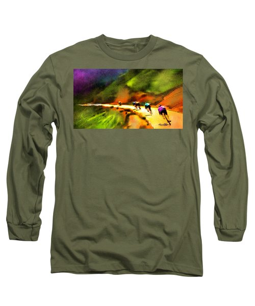 Le Tour De France 02 Long Sleeve T-Shirt by Miki De Goodaboom