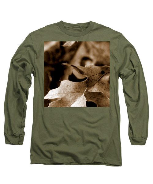 Long Sleeve T-Shirt featuring the photograph Leaf Collage 4 by Lauren Radke