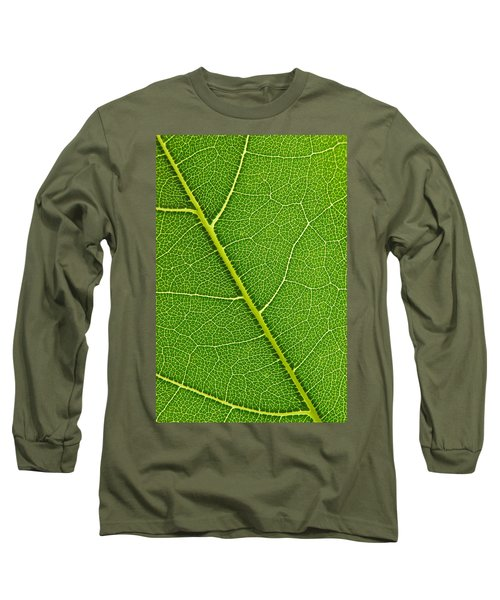 Long Sleeve T-Shirt featuring the photograph Leaf Detail by Carsten Reisinger
